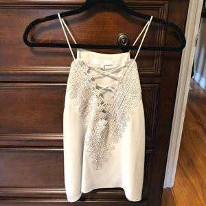 WAYF Nordstrom Ruffle Cami Lace-Up Tank
